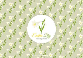 Free Easter Lily Vector Pattern