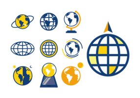Globus Icons Vector