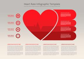 Heart Rate Infographic Flat Template