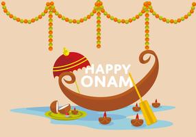 Free Happy Onam Vector Illustrator
