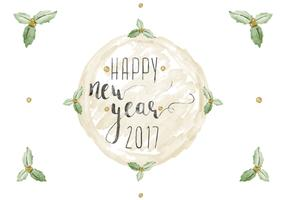 Free Happy New Year Watercolor Vector
