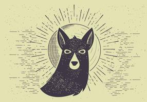 Free Vector Dog Illutration