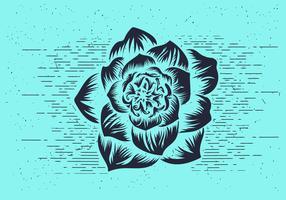 Free Vector Flower Stencil