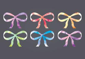 Vector Watercolor Bows