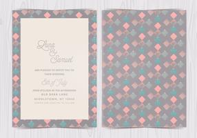 Vector Geometric Pattern Wedding Invite