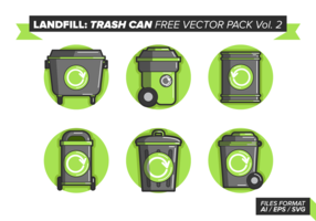 Landfill Trash Can Free Vector Pack Vol. 2