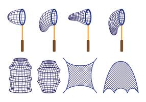 Vector Of Fishing Net