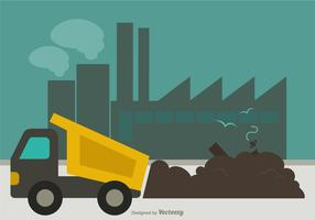Free Landfill Flat Vector Illustration
