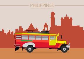 Jeepney Philippines Illustration