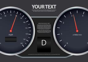 Gear Shift Speedometer Illustration Template