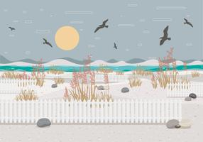Sea Oats Landscape 2 Vector