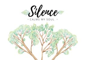 Silence Leaves Quote Vector