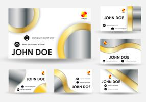 Name Card Gold Template Design