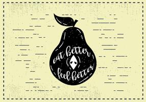 Free Hand Drawn Pear Fruit Background