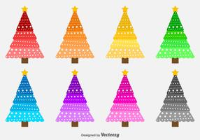 Colorful Vector Christmas Trees