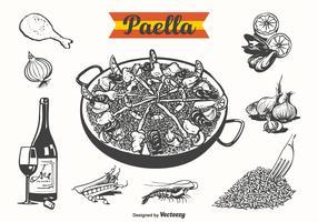 Free Paella Drawn Vector Illustration