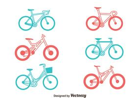 Bicycle Vector Set