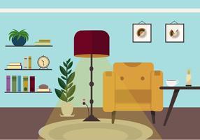 Free Retro Vector Livingroom
