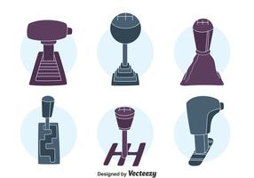 Car Gear Shift Collection Vector