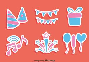 Party Decoration Element Vector