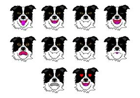 Free Border Collie Emoticon Vector