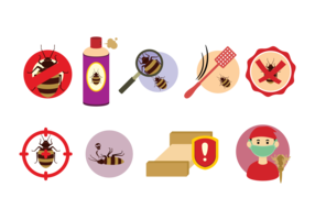 Bed Bug Control Icons