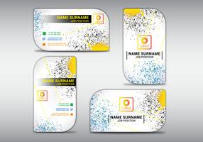 Vector illustration of business card colorfull