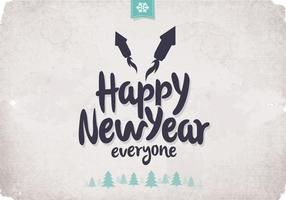 Wintery Happy New Year Vector