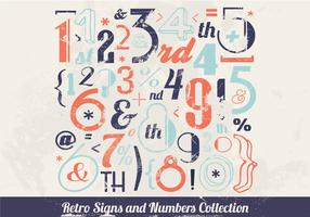 Vintage-Inspired Number Vector