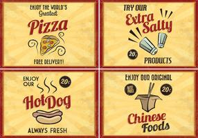 Retro Food Vectors