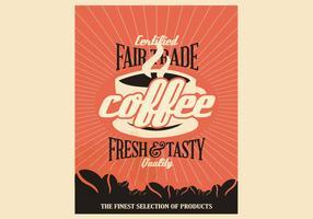Fair Trade Coffee Vintage Poster