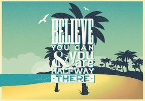 Inspirational Beach Poster
