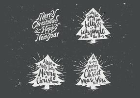 Chalkboard Christmas Tree Collection Vector