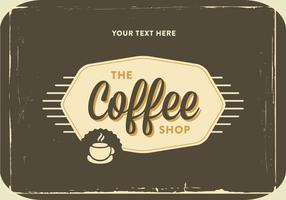 Retro Coffee Shop Logo Vector