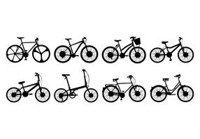 Free Bicycle Silhouettes Vector