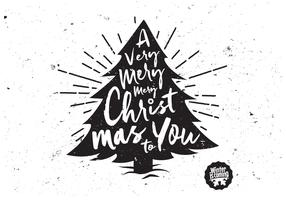 A Very Merry Christmas Tree Vector