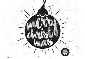 Christmas Ornament Charcoal Vector