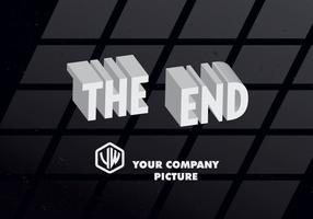 3D The End Title Card Vector