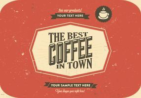 Scratchy Coffee Logo Vector