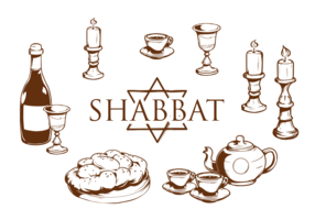 Shabbat Icons Vector