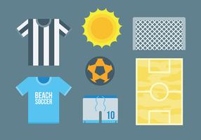 Free Beach Soccer Icons Vector