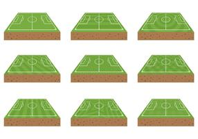 Free Football Ground Icons Vector