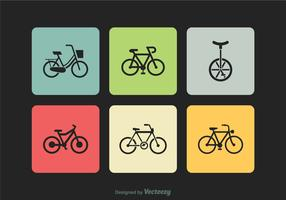 Free Bicycle Silhouette Vector Icons