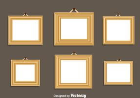 Wood Frame Vector Set