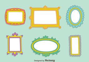 Hand Drawn Frame Vector Set