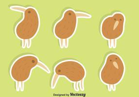 Cute Kiwi Bird Vector Set