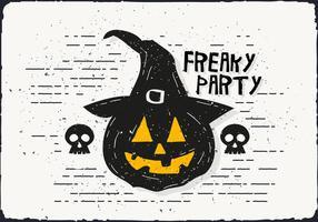 Freaky Halloween Pumpkin Vector Illustration