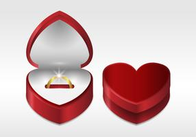 Free Realistic Ring Box Vector