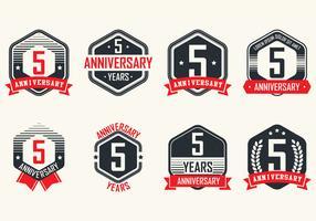 Anniversary Vintage Badges