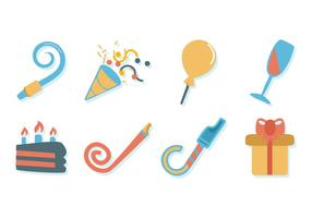 Free Birthday Stuff Icons Vector